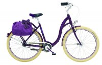 Rower miejski fioletowy